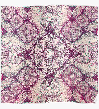 Iridium Atoms Purple White Poster