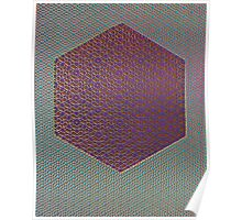 Silicon Atoms HyperCube Blue Purple Red Poster