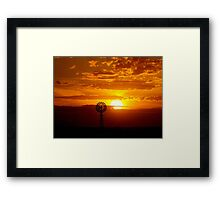 Rural Setting Framed Print