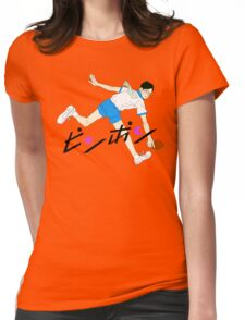 Ping Pong Smile Print Womens Fitted T-Shirt