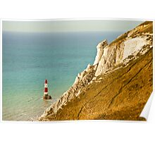 Lighthouse: Beachy Head. East Sussex. UK. Poster