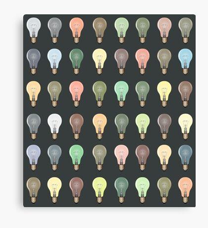 Lightbulb Pattern/Background Canvas Print