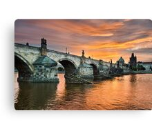 Sunrise in Prague Canvas Print