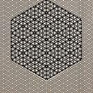 Silicon Atoms HyperCube Black White by atomicshop