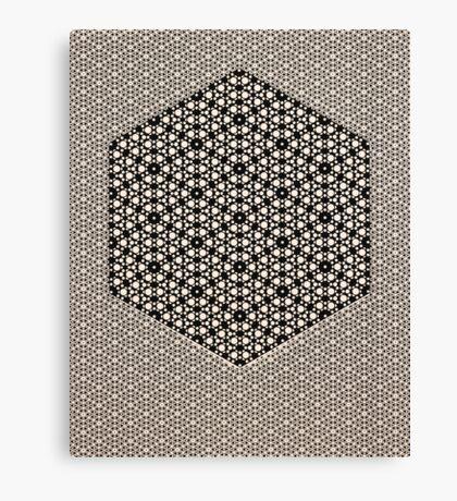 Silicon Atoms HyperCube Black White Canvas Print