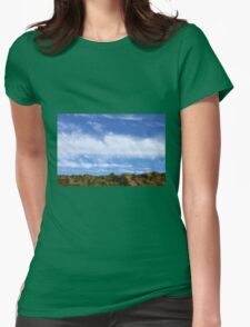 Above, the sky Womens Fitted T-Shirt