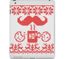 Santa's Stache Over Red Midnight Snack Knit Style iPad Case/Skin