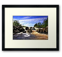 Waterfall on the River Tees. Framed Print