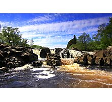 Waterfall on the River Tees. Photographic Print