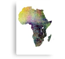 Africa map 4 Canvas Print