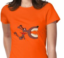 Angry DOG Womens Fitted T-Shirt