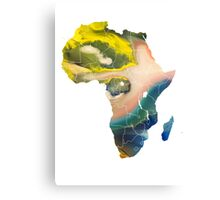 Africa Map 5 Canvas Print