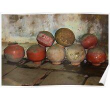 Water Pots, Ahmedabad, Gujurat, India Poster