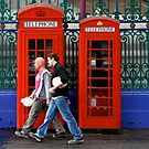 Telephone boxes in Smithfield Market by Alastair Humphreys