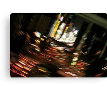 Japan City of lights Canvas Print