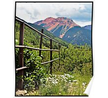 Fence At Ouray Poster
