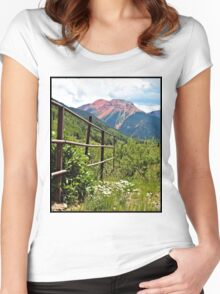 Fence At Ouray Women's Fitted Scoop T-Shirt