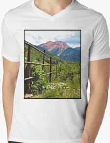 Fence At Ouray Mens V-Neck T-Shirt
