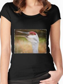 Bird Art - Look Who's Talking Women's Fitted Scoop T-Shirt