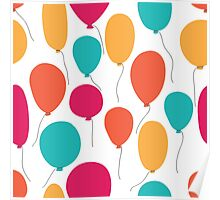 Party balloons pattern. Poster