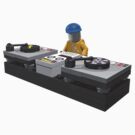 Lego DJ with Turntables by geekmorris