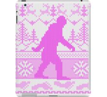 Gone Squatchin Ugly Christmas Sweater Knit Style iPad Case/Skin