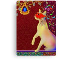'ROMEO CAT'  Impetuous Fire, Ice and Desire. Canvas Print