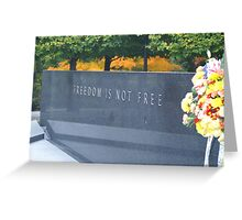 korean war memorial Greeting Card