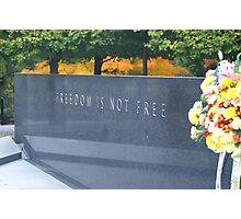 korean war memorial Photographic Print