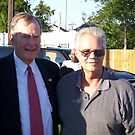 President Bush and Myself in New Orleans by Irvin Le Blanc