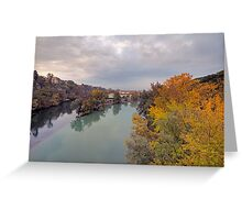 River Rhone and Arve Greeting Card