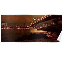 Manhattan bridge, NYC Poster