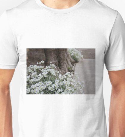 White Flowers Long Beach Unisex T-Shirt