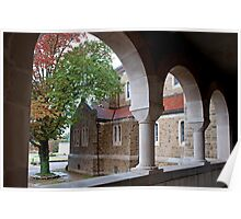 Arches of Subiaco Abbey Poster