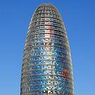 Modern Torre (Tower) Agbar Skyscraper in Barcelona (Spain)  by Petr Svarc