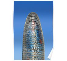Modern Torre (Tower) Agbar Skyscraper in Barcelona (Spain)  Poster