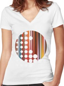 Circle Women's Fitted V-Neck T-Shirt