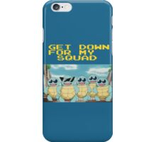 Squirtle Squad Goals (Background) iPhone Case/Skin