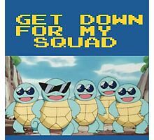 Squirtle Squad Goals (Background) Photographic Print