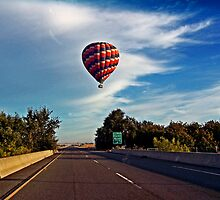 HOT AIR BALLOON OVER THE HIGHWAY by SMOKEYDOGSOCKS