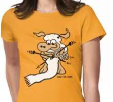 Knitting Sheep Womens Fitted T-Shirt