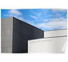 Modern Building of Mozart University, Salzburg, Austria   Poster