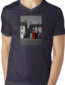 Red With A Hint Of Blue Mens V-Neck T-Shirt