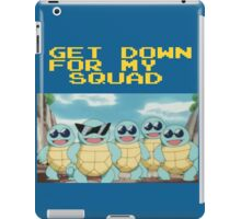 Squirtle Squad Goals (Background) iPad Case/Skin
