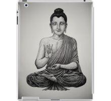 Buddha pen drawing black/white iPad Case/Skin