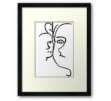Faces (Original) Framed Print