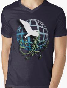 Bird & Vines Mens V-Neck T-Shirt