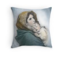 The Madonna, Nativity mother and child. Throw Pillow