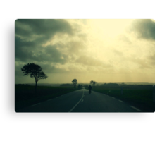 the lone moped-er. Canvas Print