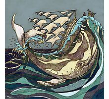Leviathan Strikes - Whale, Sea and Sailing Ship Photographic Print